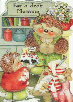 RARE - Hallmark Country Companions Mouse Christmas Card ~ To Mummy and Daddy