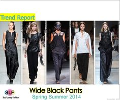 Wide Black Pants #Fashion Trend for Spring Summer 2014 #spring2014 #trends #pants