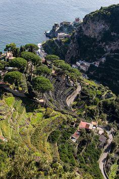 Looking down towards Atrani in the Valley, Amalfi Coast Ravello Italy, Amalfi Coast Italy, Sorrento, Positano, Places In Italy, Travel Info, Naples, Italy Travel, Bella