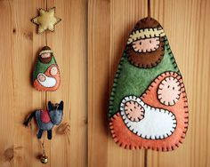 what madeleine loves: Felt Nativity