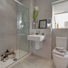 Miller Homes is a 5 star rating for customer satisfaction with new homes for sale on developments located across the United Kingdom. Downstairs Bathroom, Bathroom Layout, Modern Bathroom Design, Bathroom Shelves, Bathroom Faucets, Bathroom Interior, Small Bathroom, Bathroom Ideas, Bathroom Grey