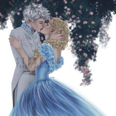 Elsa as CinderElsa (Cinderella) and Jack Frost as Prince Kit as they shared a romantic kiss Princess Celestia, Princess Luna, Disney Princess, Minecraft Pixel Art, Minecraft Skins, Minecraft Buildings, Cinderella 2015, Doctor Whooves, Nyan Cat