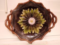 Vintage+French+Majolica+Brown+Bread+Tray+Plate+Platter+Bowl+Gorgeous