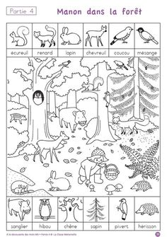 ten free printable pages to help children practice forest-related French vocab–very cute! ten free printable pages to help children practice forest-related French vocab–very cute! Hidden Picture Puzzles, French Classroom, Hidden Pictures, Activity Sheets, French Lessons, Teaching French, Worksheets For Kids, Forest Animals, Learn French