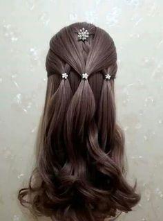 Beautiful and easy half up hair Little Girl Hairstyles, Braided Hairstyles, Pretty Hairstyles, Girl Hair Dos, Toddler Hair, Crazy Hair, Hair Videos, Hair Designs, Hair Hacks
