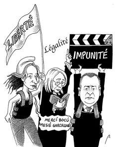 """""""Le saineté"""" de Florence. Cartón de Perujo #humor #política #Francia #México #FlorenceCassez"""