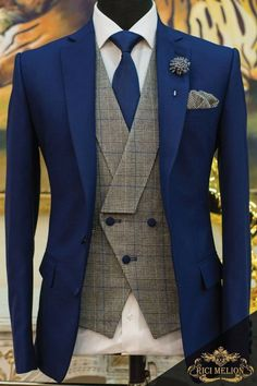 53 popular groom suit ideas for your perfect wedding Best Suits For Men, Cool Suits, Mens Fashion Blazer, Suit Fashion, Dress Fashion, Traje Casual, Designer Suits For Men, African Men Fashion, Mode Outfits