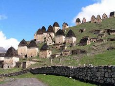 Dargavs also known as ' The City of the Dead ' is a place situated in Russia's North Ossetia. This place is hidden in one of the five mountain ridges which cross this region. Dargavs is immersed in several legends & myths. (1)