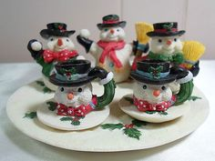Children's Mini Snowman Tea Pot Set Holiday Youngs 1995 Christmas Collection | eBay