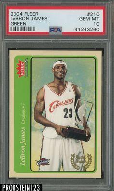2004 Fleer #210 Green Lebron James PSA 10 POP 3 #LeBronJames #PSA10 #sportscards