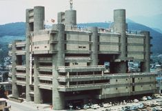 Yamanashi Broadcasting and Press Centre in Kōfu, Japan (Kenzo Tange, 1966)