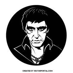 Al Pacino vector portrait.