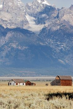 """Grand Teton Farm"" by  picturesinmylife_yls"
