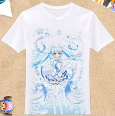 Anime Hatsune Miku Clothing DIY Costume White T-shirt Upgrade Printing#H