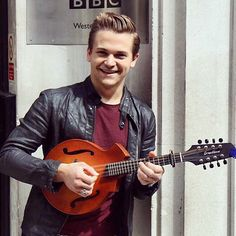 Hunter and his mandolin obsession!