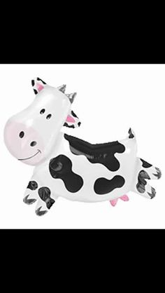 Cow baby shower balloon