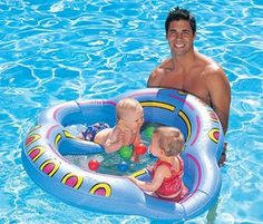 #Twin Baby Pool Float- a must for this summer!!