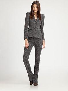 Burberry London - Stretch Tweed Blazer & stretch tweed trousers   Saks.com