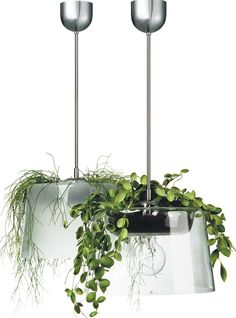 """Lampel"" by Margot Barolo for Bsweden Margot Barolo définit sa lampe… Diy Planters, Hanging Planters, Garden Planters, Indoor Garden, Indoor Plants, Hydroponic Plants, Hydroponics, Plant Lighting, Cool Lighting"