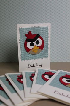 Einladungskarte Angry Birds - Stampin Up!