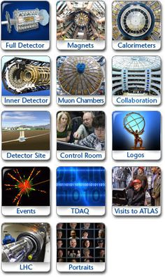 ATLAS Photos : collision events and detector / immagini del rivelatore e di eventi di collisione