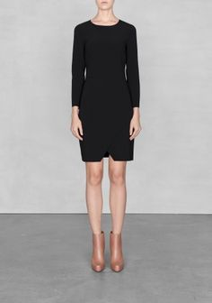 & Other Stories | Raw-edge dress | Black £23 (org £55)