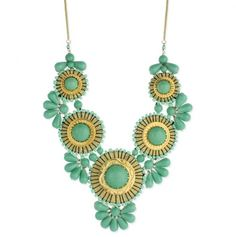 Green/yellow statement necklace