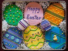 so beautifully decorated Cake Cookies, Sugar Cookies, Cupcake Cakes, Tin Gifts, Cookie Gifts, Flower Cookies, Easter Cookies, Egg Shape, Cookie Recipes