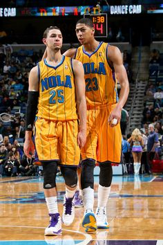 Austin Rivers & Anthony Davis, New Orleans Hornets. Back playing together, saw this coming