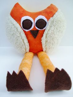 Whimsical Owl Stuffed Animal Soft Toy Plush by OurPlaceToNest, $15.00