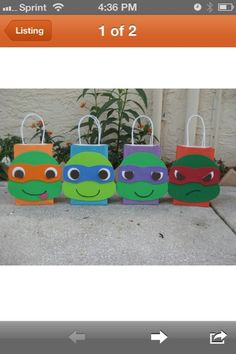 TMNT party bags