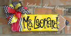 Personalized Teacher Pencil Name Sign by KatelynnAlaineDesign on Etsy https://www.etsy.com/listing/215355687/personalized-teacher-pencil-name-sign