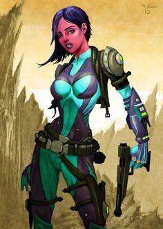 Zeltron Bounty Hunter by mikekimart on DeviantArt