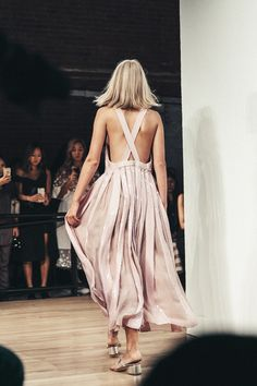 Blush Pink - Sequin, Chiffon Dress  / Tibi.‪ ‪#‎NYFW‬