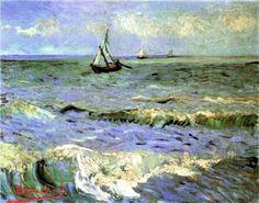 Seascape at Saintes-Maries - Vincent van Gogh