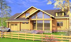 casa parter si mansarda din lemn