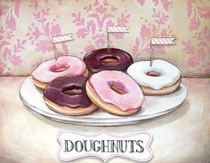 """Doughnuts"" vintage inspired print M by Everyday is a Holiday"