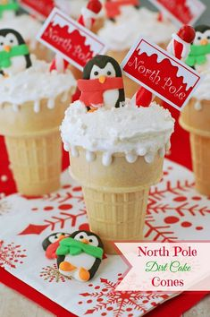 Creative and Fun Christmas Treats for Kids North Pole Dirt Cake Cones