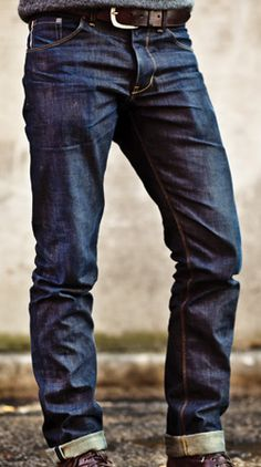Love a sophisticated dark wash on men's jeans...dressy and casual all at the same time. Tears and holes don't reflect a man with class and sophistication. These are perfect :)