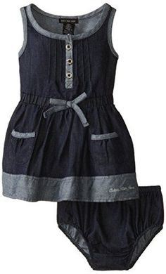 Calvin Klein Baby-Girls Infant Denim Dress with Pockets On Skirt, Blue, 12 Months Calvin Klein http://smile.amazon.com/dp/B00NVETH6A/ref=cm_sw_r_pi_dp_ZtMmvb17WPHGG