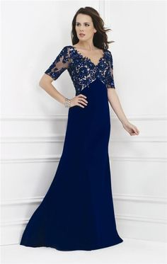 Wholesale Mother of the Bride Dresses - Buy Plus Size Mother of the Bride Dresses Feature V-neckline with Sheer Short Sleeves Embellished with Beads And Lace Applique Evening Gowns, $117.84 | DHgate