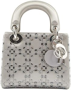 Buy your lady dior cloth mini bag DIOR on Vestiaire Collective, the luxury  consignment store online. Second-hand Lady dior cloth mini bag DIOR Silver  in ... 1bf3e8007f