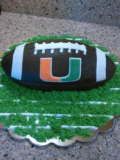 University of Miami Football Cake 9-13-14