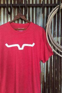 78e899e6 Kimes Ranch horns logo graphic t-shirt. Rustic white graphics on tri-blend