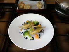 JHS  *** / Sardines fauvette, les légumes et la sauce de chou rouge Gino D'Aquino