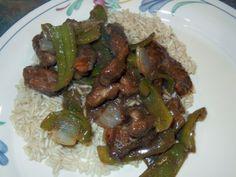 Beef Pepper Steak.  Love this easy recipe! #garden on www.stockpilingmo...