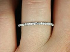PLATINUM 1.8mm FULL Eternity Band Micro Pave by JewelryULovebyAby