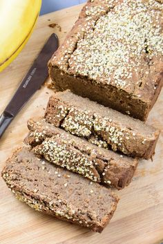 Healthy banana bread. High protein, low fat, gluten free and vegan. You will never need another banana bread recipe!