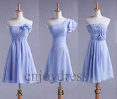Custom Sky Blue New Cheap Short Bridesmaid Dresses by enjoydress, $58.00