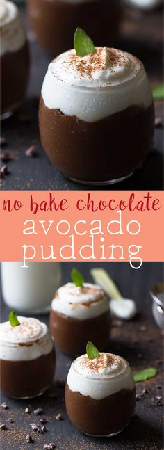 This No Bake Chocolate Avocado Pudding tastes just like your favourite childhood pudding! Thick and delectable, it takes only 10 minutes of prep! via http://jessicainthekitchen.com